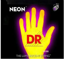DR NEON NYB-40 Neon Yellow Luminescent / Fluorescent Bass Guitar Strings 40-100